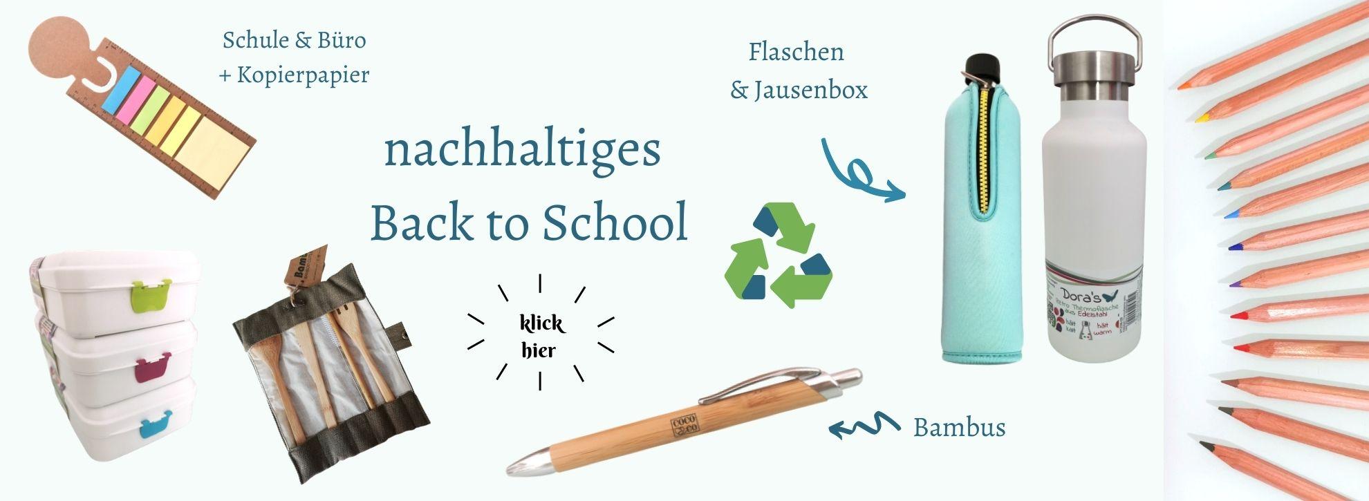nachhaltig in die Schule und ins Büro recycling natürlich