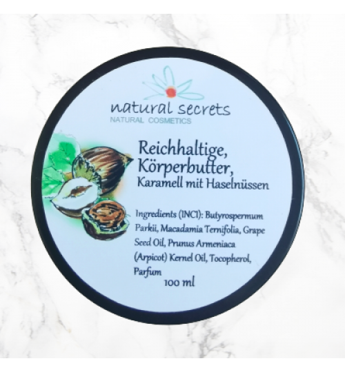 Reichhaltige Bodybutter - Nüsse & Karamel