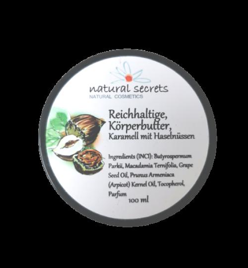 Bodybutter - Nüsse & Karamell – Natural Secrets