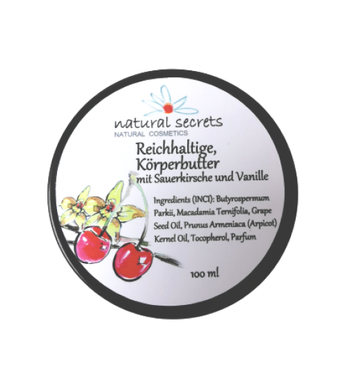 körperbutter natural secret vanille kirsche