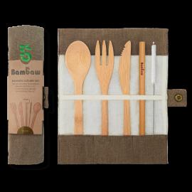 nachhaltiger Bambaw Cutlery Set wiederverwendbar
