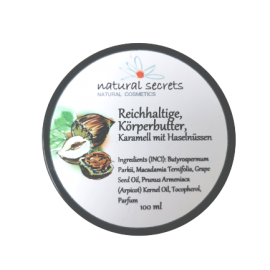 Bodybutter - Nüsse & Karamell – Natural Secrets