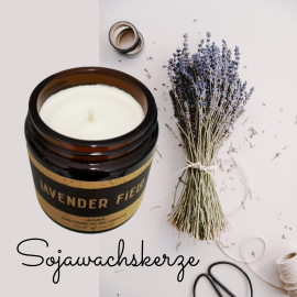 Lavendel - Sojawachskerze