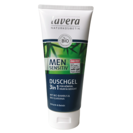 lavera naturkosmetik men sensitive duschgel shampoo