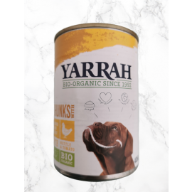 natürliches hundefutter huhn yarrah bio
