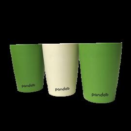 bambusbecher 6er pack pandoo grün weiß